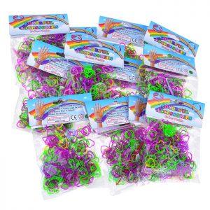 Резинки для плетения браслетов 213-2 в пакете по (12 шт.)