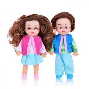 Набор кукол 6085-5477 (мальчик и девочка),(16см) в пакете