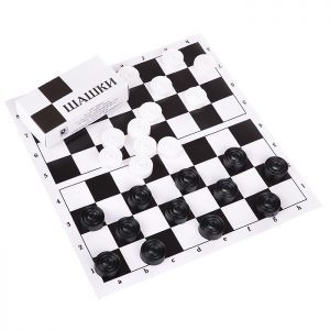 Шашки (с шахматной доской)