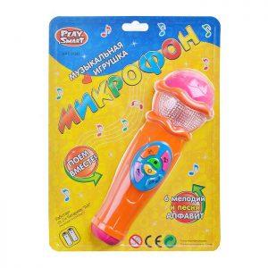 Музыкальная игрушка Микрофон 7043 на бат, в блистере