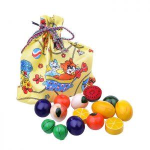 Волшебный мешочек фрукты-ягоды цветные, тип 2