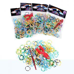 Резинки 215 для плетения браслетов в пакете (упаковка 12шт.)